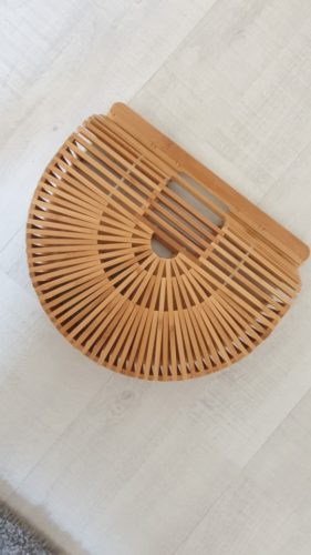 Bamboo Handbag Handmade Tote Bag for Women photo review